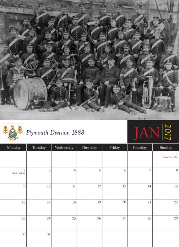 The Royal Marines Band Service Historical Calendar 2017
