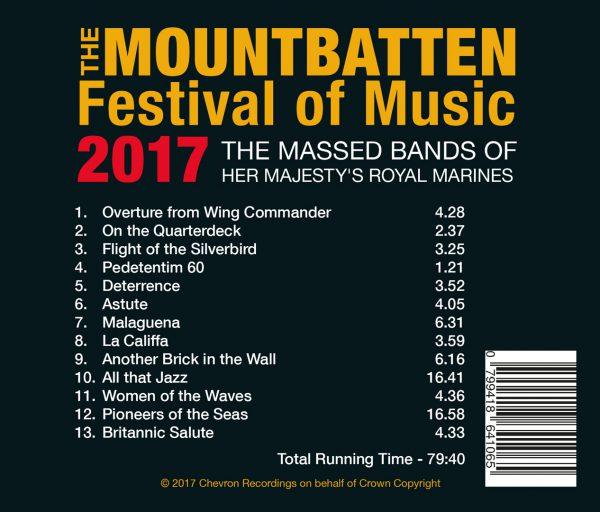 The Mountbatten Festival of Music 2017 Track list