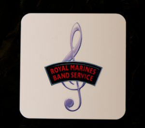 Royal Marines Band Service Treble Clef Coaster