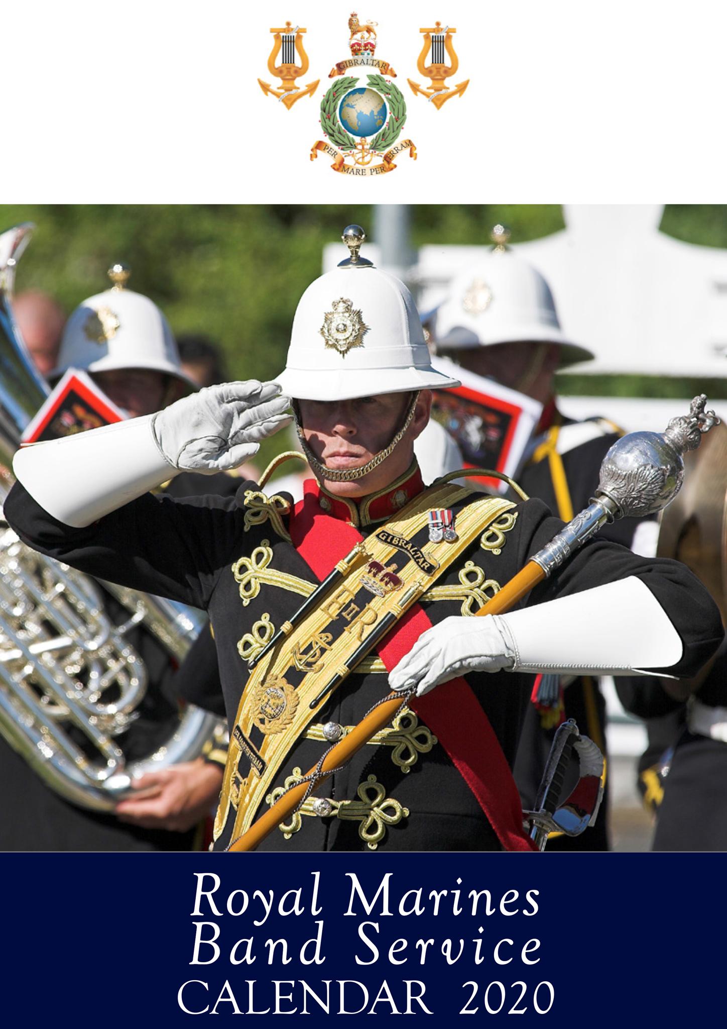 The 2020 Royal Marines Band Service Calendar