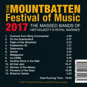 The Mountbatten Festival of Music 2017 Track list