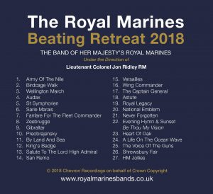 Beating Retreat 2018 CD Tracklist - The Massed Bands of Her Majesty's Royal Marines