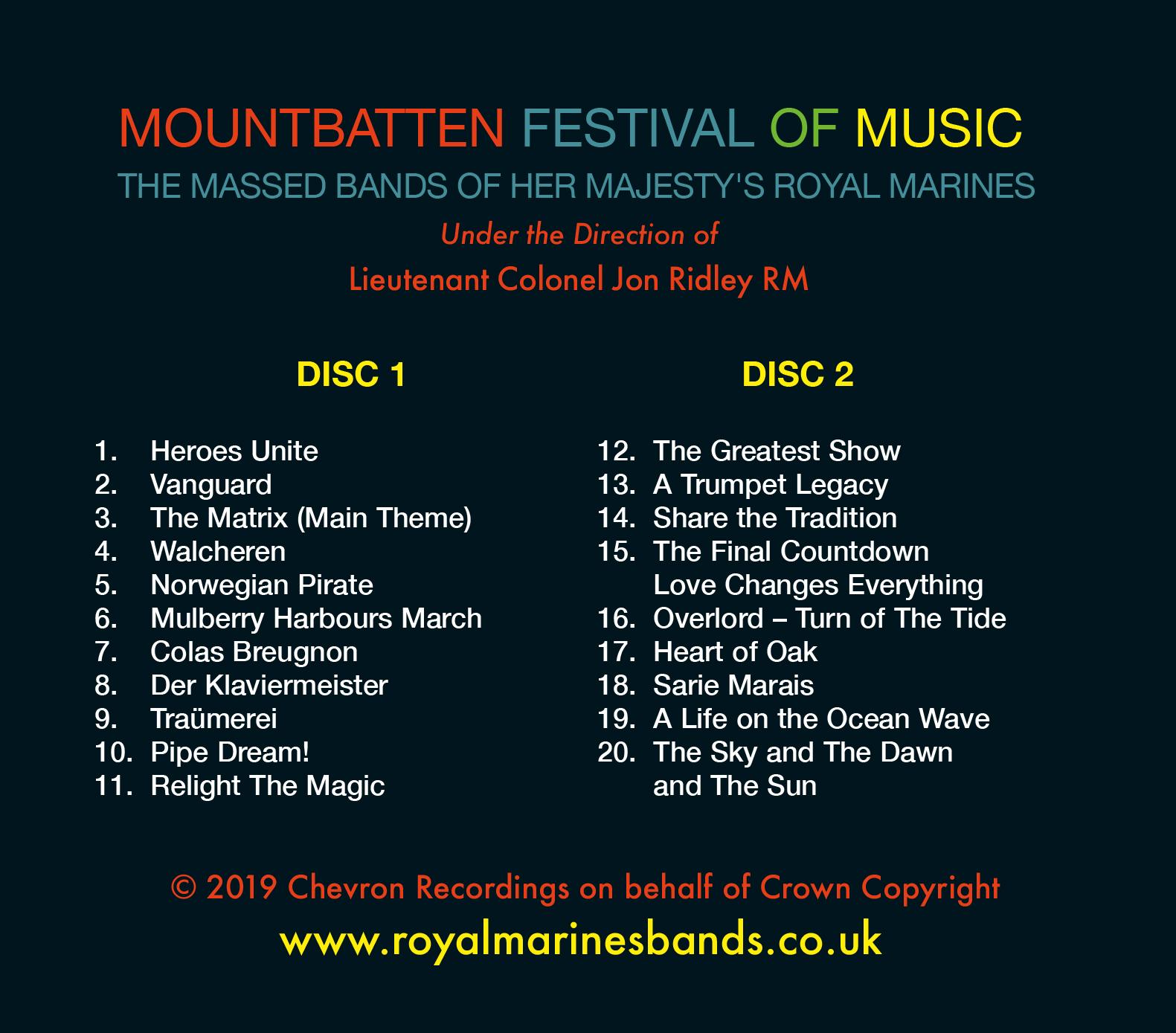 Mountbatten Festival Of Music 2019 Double Cd Www