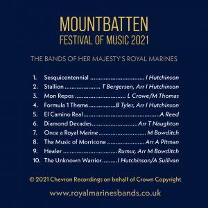 The Mountbatten Festival of Music 2021 CD Track List